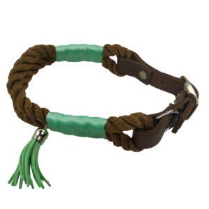 Kletterseil Halsband mit Lederadapter